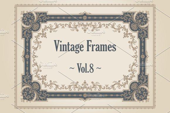 24 Vintage Frames. Vol.8 - Illustrations