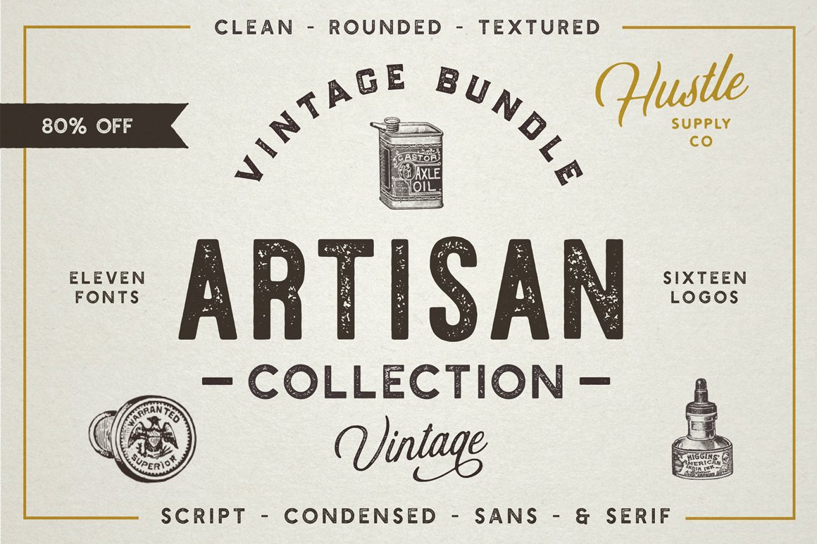 The Artisan Collection Font Bundle Display Fonts