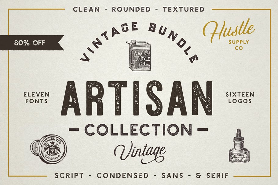 The Artisan Collection (Font Bundle) | Stunning Display