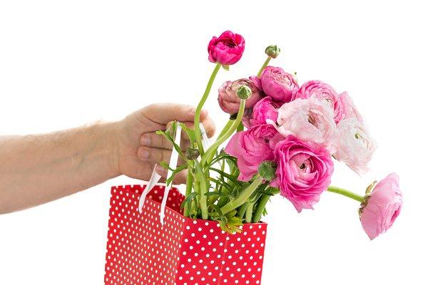 Bouquet of Pink Ranunculus, Butterc…