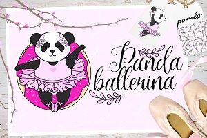 Panda Ballerina Set