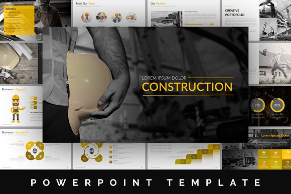 Construction powerpoint template presentation templates construction powerpoint template presentations toneelgroepblik Gallery