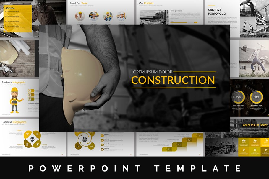 Construction Powerpoint Template Powerpoint Templates