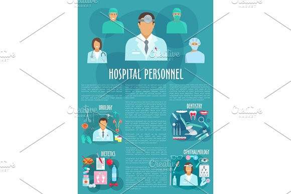 Dentistry Ophthalmology Or Urology Vector Poster