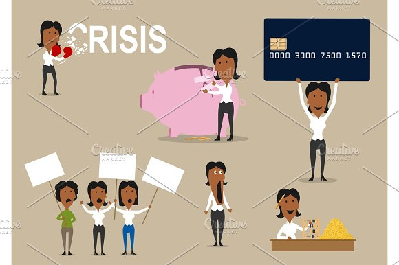 Crisis Vector Concept Of Money Saving
