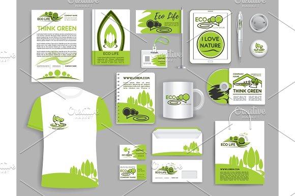 Corporate Identity Set Ecology Company Templates