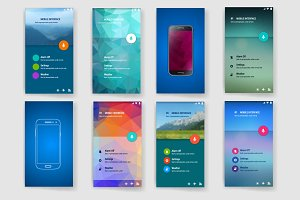 User interface(ux,ui)screen template