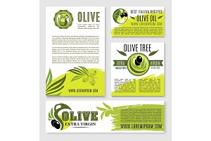 Olive oil vector product poster templates