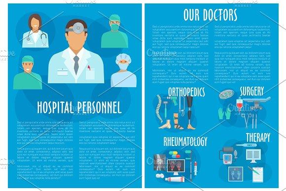 Medical Doctors Hospital Personnel Vector Poster