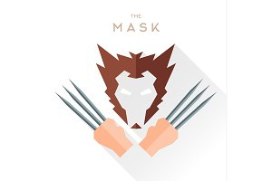 Mask Hero superhero Wolverine Logan