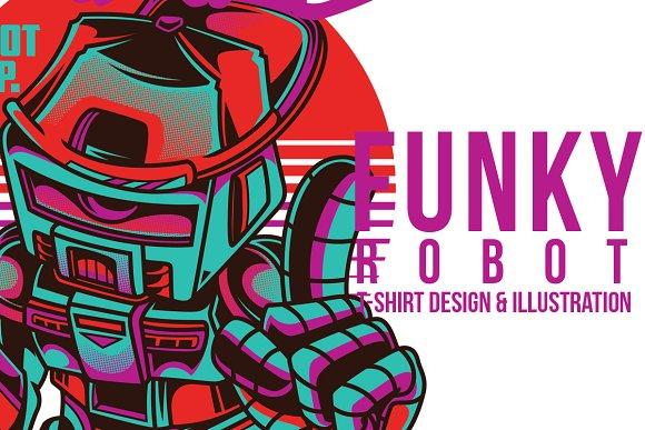 Funky Robot Illustration