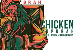 Chicken Sup Brah Illustration