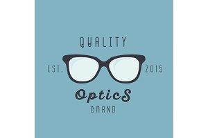 Glasses logos brand trend, sign illustration, vector