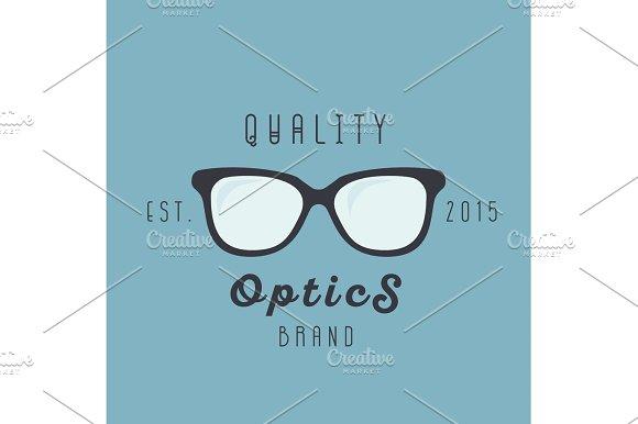 Glasses Logos Brand Trend Sign Illustration Vector