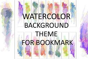 Watercolor Theme Bookmark Bundle