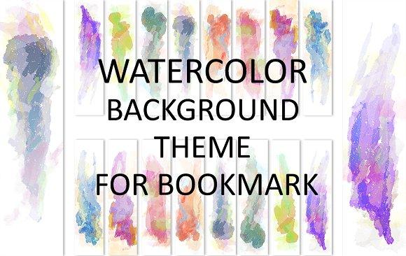 Watercolor Theme Bookmark Bundle Illustrations Creative Market