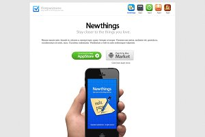 white Newthings apps collection