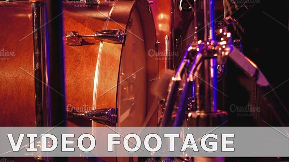 Drummer Plays On A Bass Drum With Pedal
