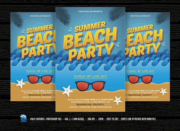 Summer Beach Party Pool Party
