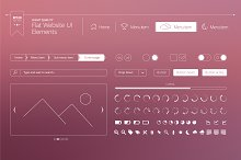 Flat website UI elements