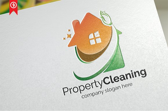 Property Cleaning Logo Template
