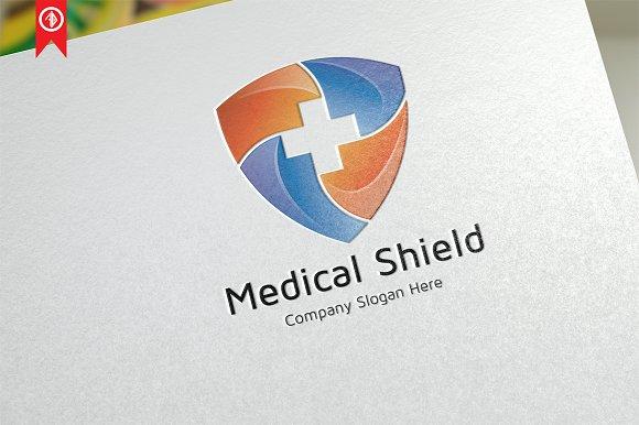 Medical Shield Logo Template