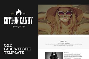 Cotton Candy | One page template