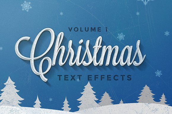 christmas text effects vol1