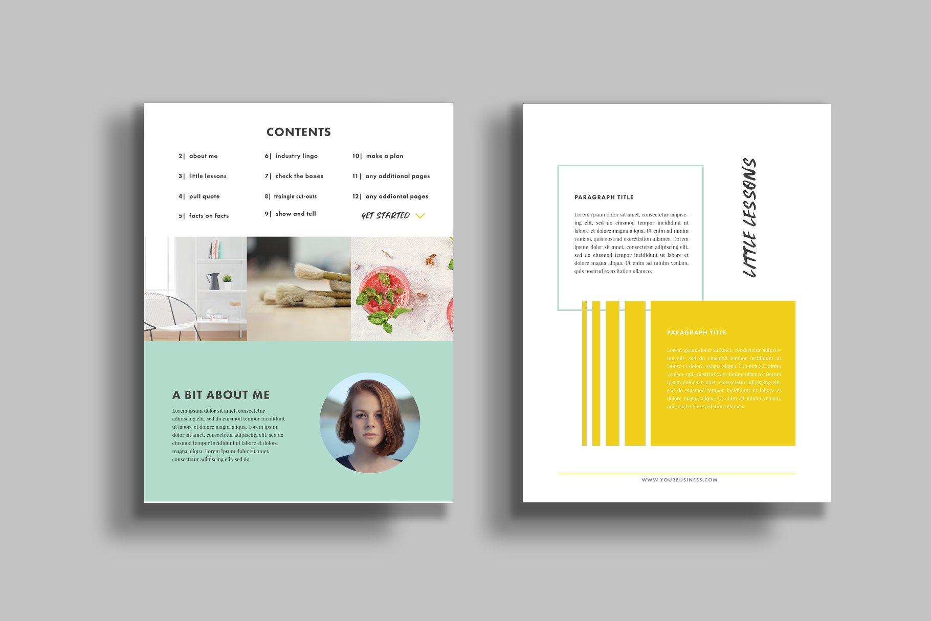 Ebook Template - Illustrator - Templates | Creative Market Pro