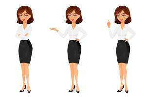 Business woman in different poses.