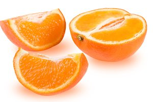 Mandarin or Mineola isolated on white background