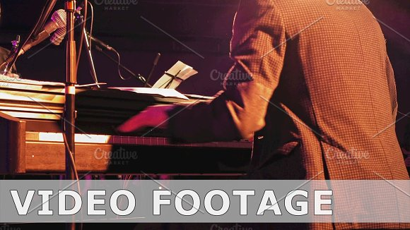 Piano Player On The Stage
