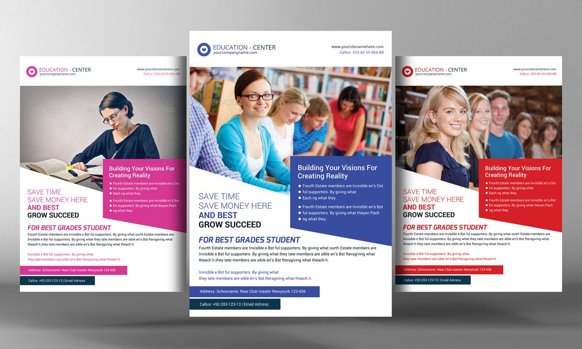 UniversityCollege Study Flyer Flyer Templates on Creative Market – University Brochure Template
