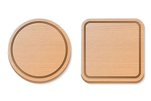 Cutting board. Vector set.