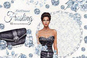 Frosting Clip Art Set