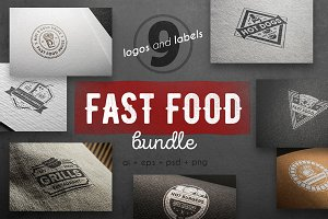 Fast food logo kit