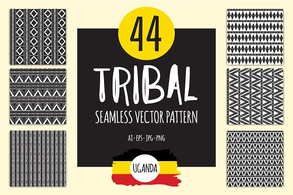 60 African tribal patterns seamless Graphic Patterns Creative Market Unique African Tribal Patterns