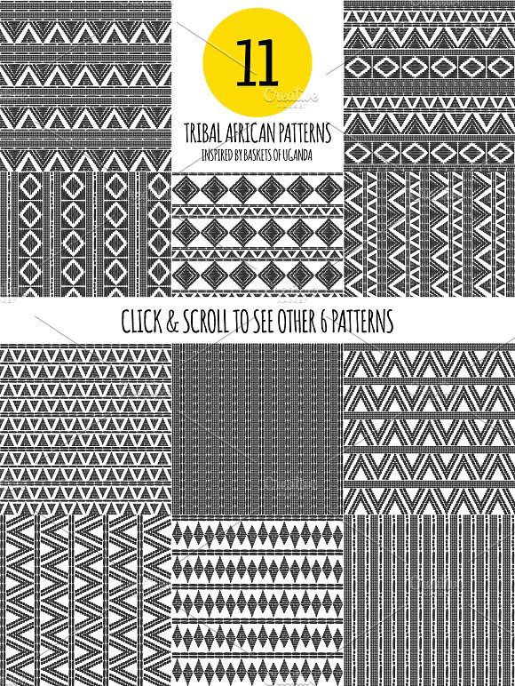 60 African tribal patterns seamless Graphic Patterns Creative Market Impressive African Tribal Patterns