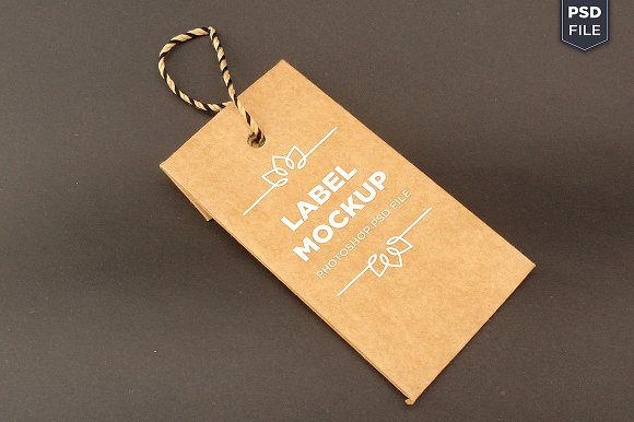 Tag Label Logo Mockup