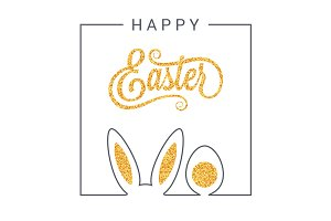 Easter bunny design background