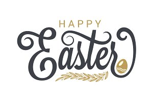 Easter vintage lettering background