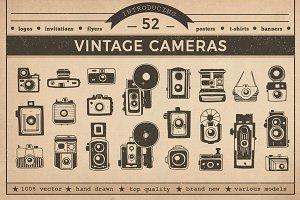 Vintage Cameras Vector Pack