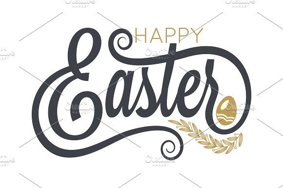 Easter Vintage Lettering Background