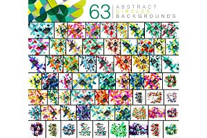 Mega collection of 63 circles abstract backgrounds