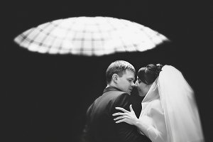 Kissing under the glass roof