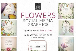 FLOWERS Social Media Graphics