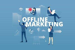 Offline marketing hero banner