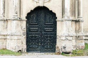 Abandoned decorative church doors