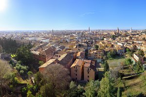 Old Verona town from viewpoint