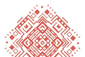 Ethnic geometric decorative pattern